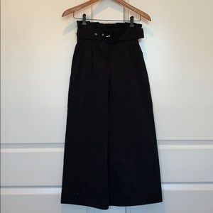 Zara XS high waisted belted black pants